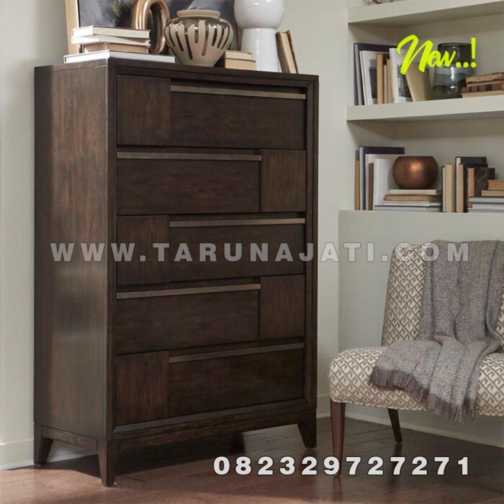 drawer minimalis jati model walton