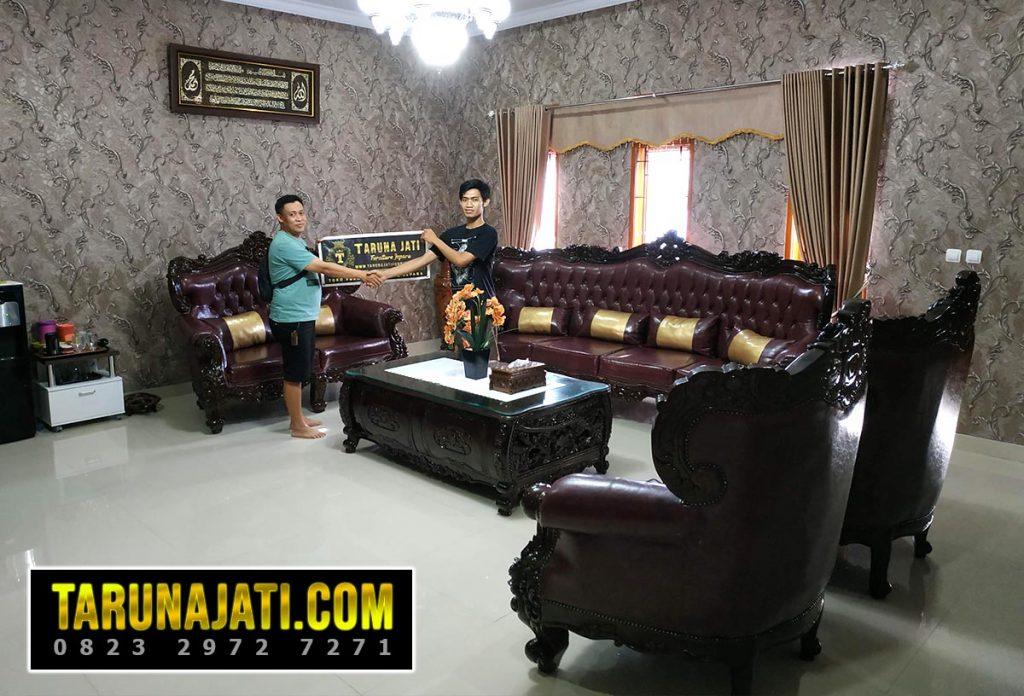 taruna jati mebel jepara set sofa tamu mewah bandung