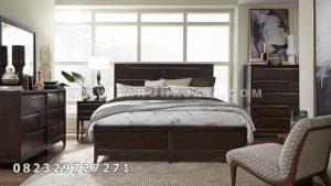 tempat tidur minimalis jati model terbaru